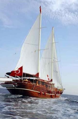 トルコの木帆船